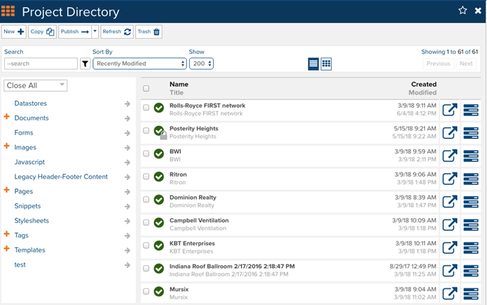 Marketpath CMS Datastores